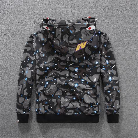 Bape Shark Camo a bathing ape bape shark hooded hoodie coat camo zip