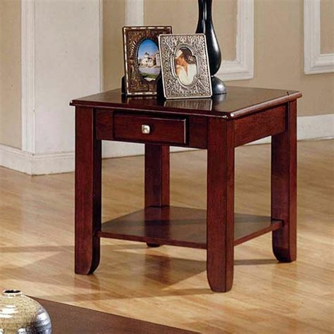 cherry side tables for living room logan cherry wooden end table storage drawer shelf living