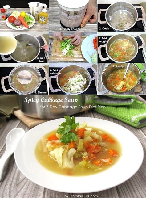 Spicy Cabbage Detox Soup by Simple Spicy Cabbage Soup
