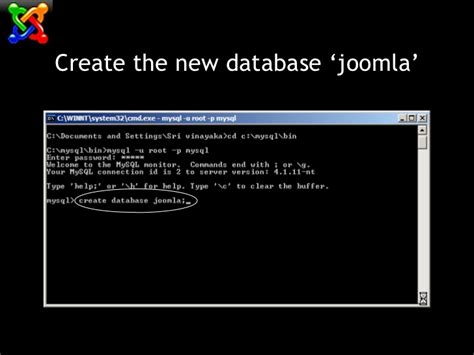 configure joomla xp installation of joomla on windows xp