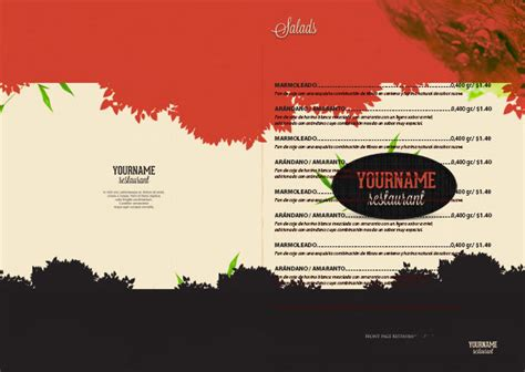 restaurant menu template for photoshop