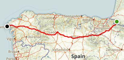 camino trail map camino de santiago frances palencia spain alltrails