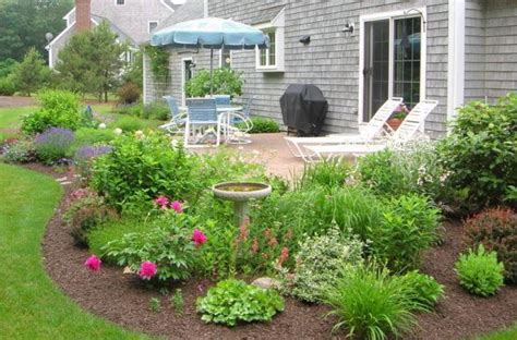 top 28 landscaping ideas around concrete patio sted concrete patio two levels with a fire