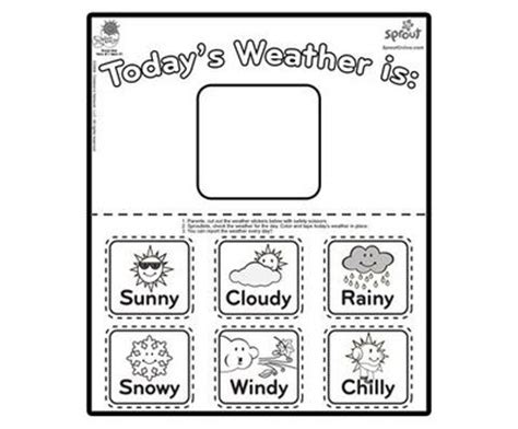 weather coloring pages for preschool printable weather chart preschool classroom memes