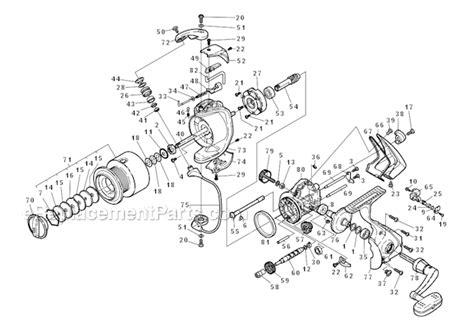 shimano stradic parts diagram shimano st 4000fh parts list and diagram