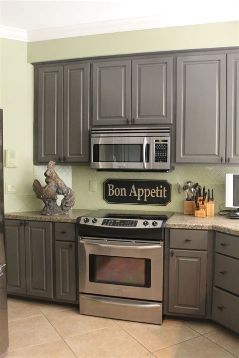 grey cabinet paint miss kopy kat kitchen mini makeover