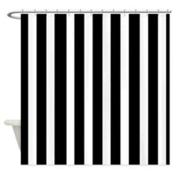 black and white vertical striped shower curtain shop black and white striped shower curtain on wanelo