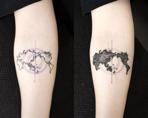 minimalist tattoo köln world map worldmaptattoo touchuptattoo blacktattoo