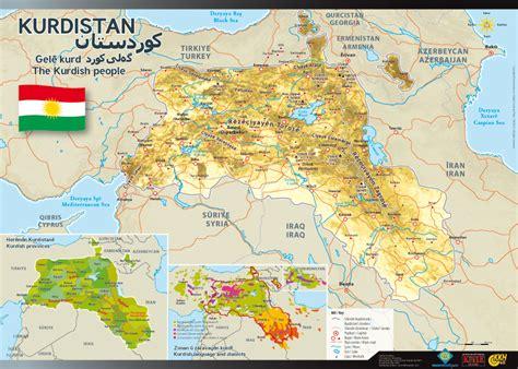 kurdistan map landkarte kurdistan