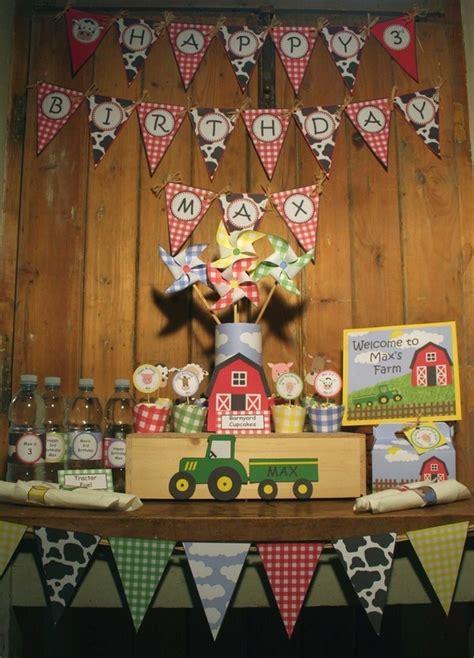 printable farm party decorations image of barnyard farm animals birthday party printable