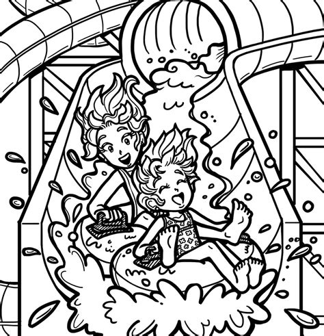 coloring pages water park i m back did you miss me dork diaries