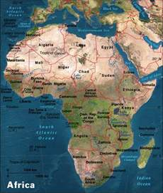 africa map geography maps of america
