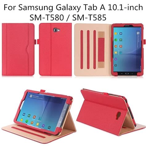 Tablet Samsung 10 Inch stand folio cover for samsung galaxy tab a 10 1 inch tablet sm t580 with viewing