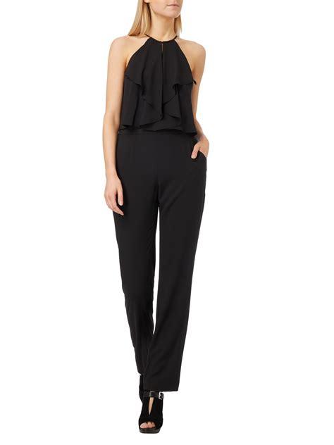 swing modelle swing jumpsuit aus chiffon in grau schwarz kaufen