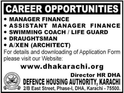 defence housing insurance defence housing authority karachi jobs and all administration learningall