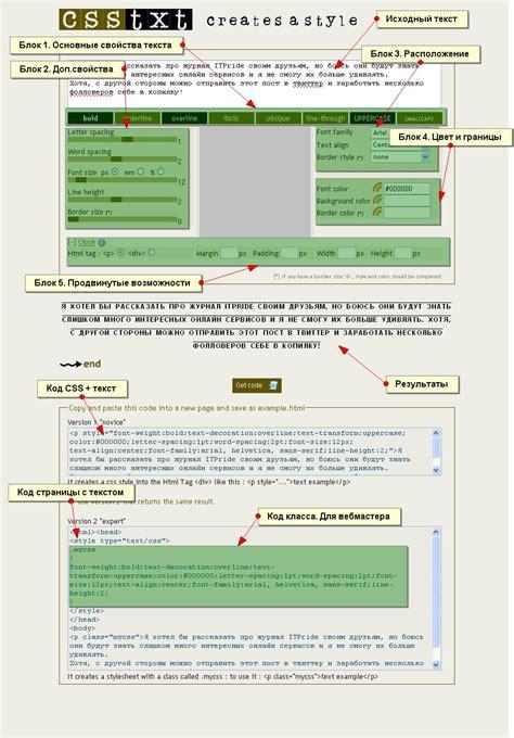 design font css обработка текста с помощью css сервисов обзор визуальных