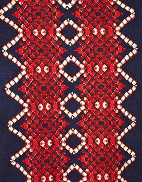 snake with zig zag pattern on back raf simons maharishi tshirt snake zig zag pattern in red