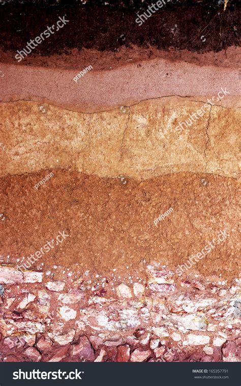 underground soil layers powerpoint template backgrounds layer of soil underground background stock photo 165357791