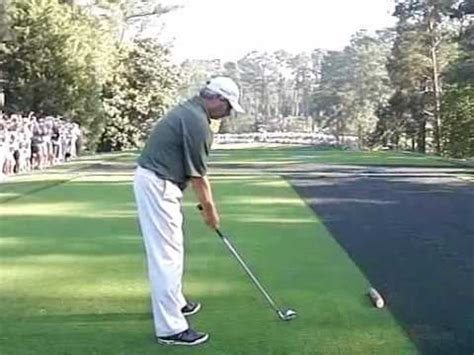 fred couples swing analysis fred couples swing down the line youtube