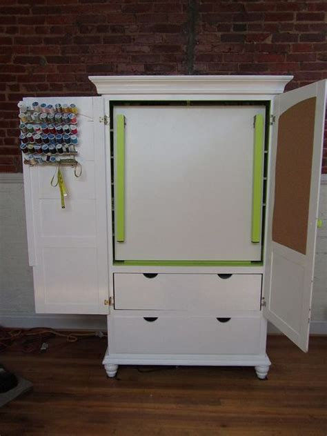 diy sewing armoire diy craft armoire w fold out table you can still use the