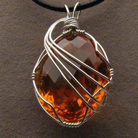 wire wrapped golden citrine pendant by jandsgems on deviantart