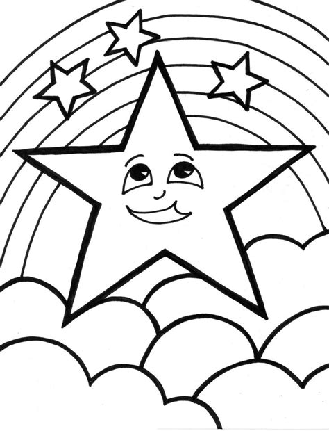 printable star coloring pages  kids marcelines