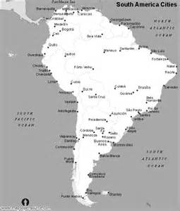 black and white map of south america free south america cities map black and white cities map