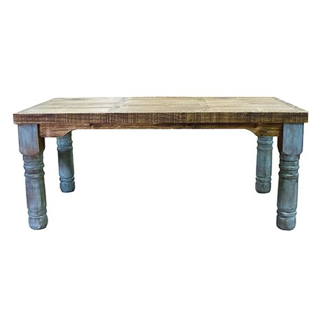 turquoise colorwash dining table