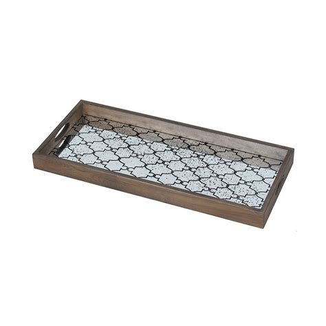 Rectangular Tray buy notre monde bronze gate rectangular mirror tray amara