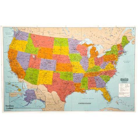 laminated united states map hod720 house of doolittle laminated united states map 50 x