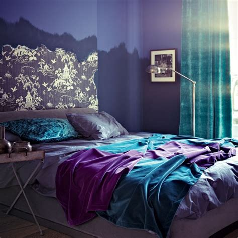 purple teal and gray bedroom modern purple bedroom