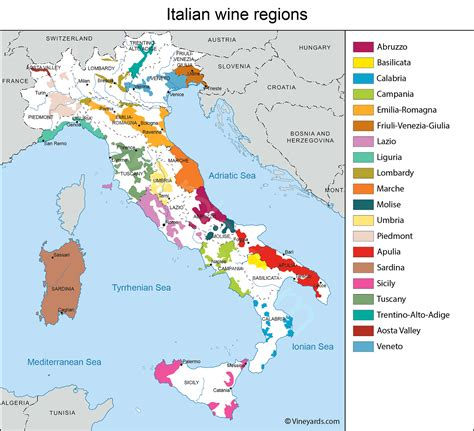 best wine from italy italy map of vineyards wine regions