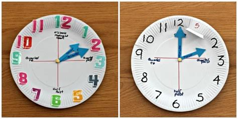 Paper Plate Clock Craft - how to make a paper plate clock simple craft ideas