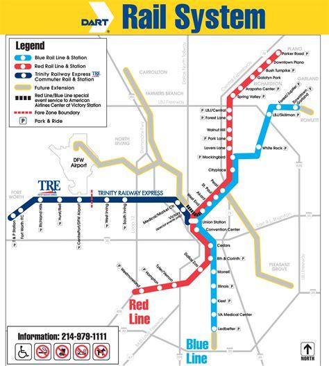 dart map dart rail system map dallas tx mappery