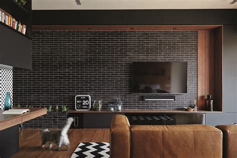 living room design ideas  brick walls  stylish spaces