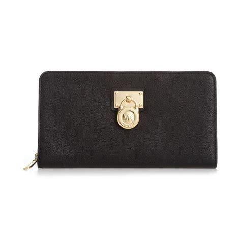 Mk Zipper Wallet Dompet Resleting Mk michael kors hamilton zip around wallet in black lyst