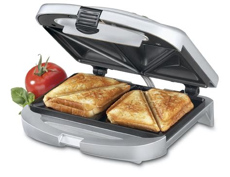 Teflon Snack Maker review of cuisinart dual sandwich maker nonstick electric