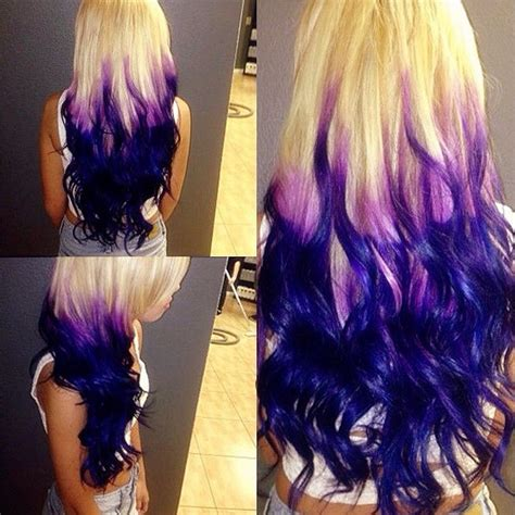 white and blue hair extensions purpe purple ombre hair colors with dyeable white