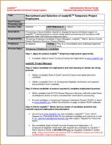 Sop Template Word by Doc 417540 Standard Operating Procedures Template Free