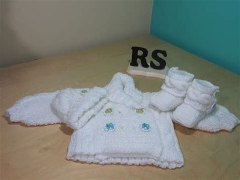 Sweater Rusa como tejer abrigo de trenzas para beb 233 recien nacido principiantes