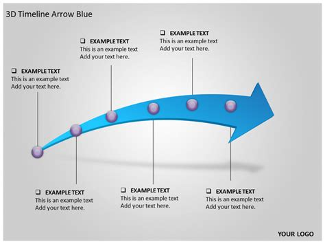 arrow powerpoint template 3d timeline arrow blue powerpoint template background of