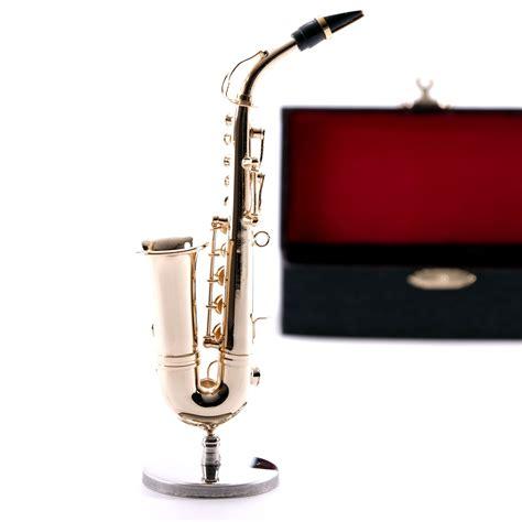 Deco Instrument Quot Saxophon Quot Metal 4 3 Quot With Stand