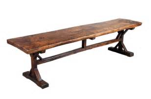 Leather Cocktail Table A 10 Long Elm Trestle Table At 1stdibs