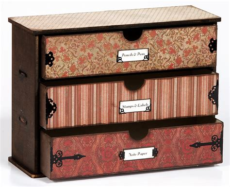 Scrapbook Paper Drawers by 3 Drawer Chest