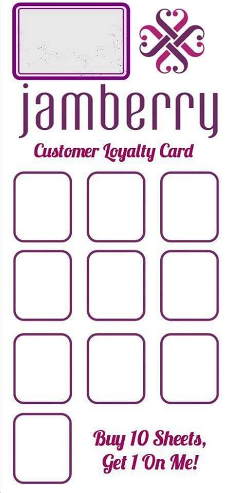 jamberry loyalty card template loyalty cards loyalty and cards on