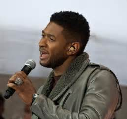 usher hairstyle 2015 usher in concert wearing a panerai rubber b