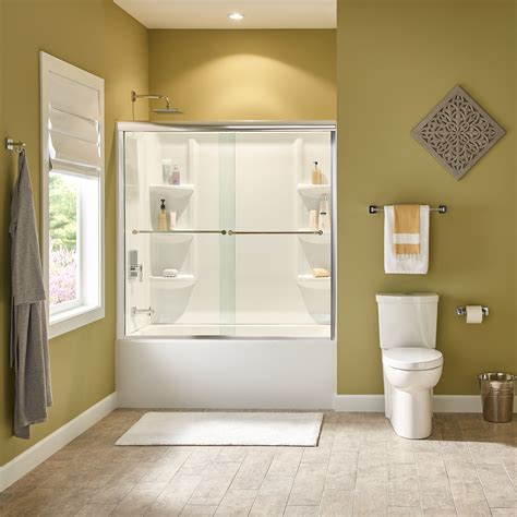 shop american standard studio arctic acrylic bathtub wall studio 60x32 quot bathtub wall set american standard