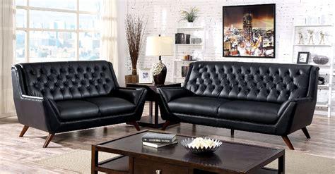 living room furniture dallas foa furniture of america leia black sofa loveseat set