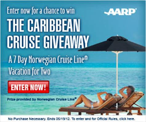 Cruise Giveaway - aarp caribbean cruise giveaway i crave freebies