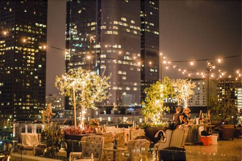 rooftop weddings in los angeles ca bohemian rooftop event space perch los angeles